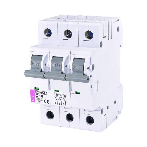 Automatski osigurač ETI 10A 3p C